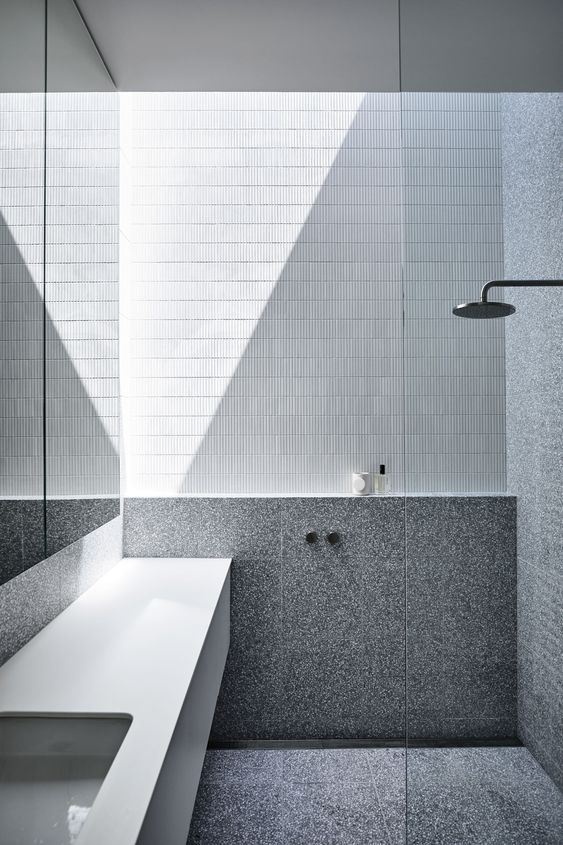 Vanity In Shower Area