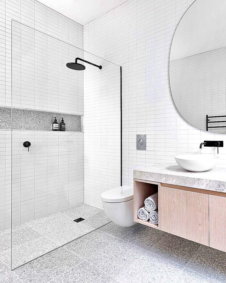 HÛT re-crafts a characterful London townhouse in terrazzo and Petersen brick _ Bathroom interior, Ba