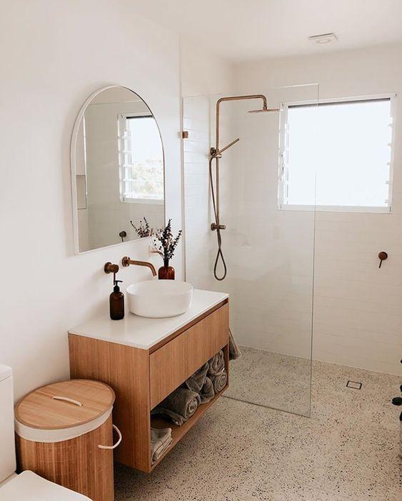 Brushed Copper Bathroom Tapware