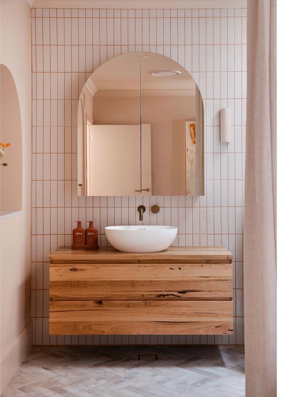 Three Birds Renovation - Double Arch Mirror Cabinet